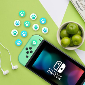 Image 2 - Animal Crossing Thumb Stick Grip Paw Cap Cover For Nintendo Switch NS Lite Screen Protector Sticker Skin Game Cards Box Case