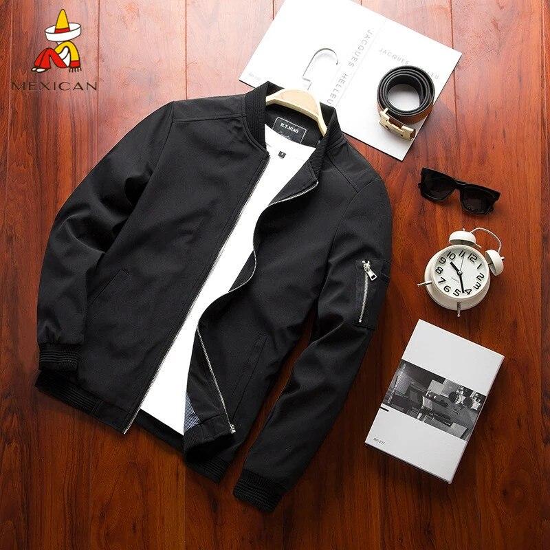 MEXICAN New Men Jacket  Casual Streetwear Hip Hop Slim jacket men Fit Pilot Coat Men Clothing Plus Large size мужская куртка Jackets    - AliExpress
