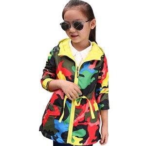 Image 1 - Abesay الخريف جاكت رياضي للفتيات التمويه الفتيات سترة الربيع الاطفال المعاطف ملابس المراهقين للفتيات 4 6 8 10 12 سنوات