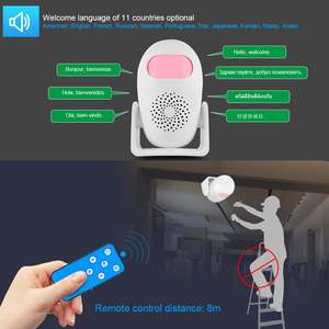 Image 5 - Towode Smart Motion Detector Welcome&Alarm Motion Detector  Kit Infrared Anti Theft Motion Detector Home Security Alarm System