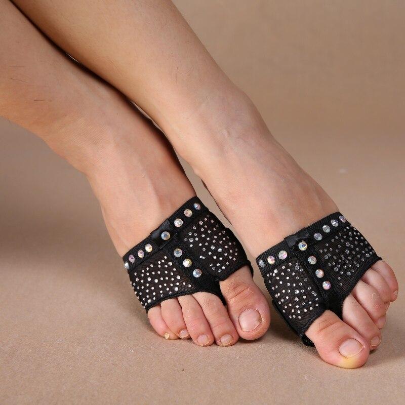 Belly Socks Dance Paws Diamond Half Lyrical Shoes Foot Cover Toe Undies S/M/L/XL