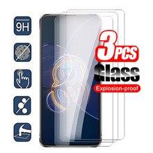 3 pçs protetor de tela de vidro temperado protetor de proteção para asus zenfone 8 aleta de vidro para zenfone8 flip 8 flip 9d película de cobertura de telefone de segurança