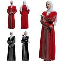 Muslim Women Open Abaya Long Sleeve Maxi Dress Kimono Kaftan Jilbab Cardigan Party Cocktail Luxury Robe Gown Loose Plus Size New