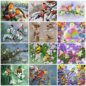 EverShine DIY Diamond Embroidery Bird Cross Stitch Diamond Painting Full Square Animlas Handicraft Art Hobby Gift Home Decor