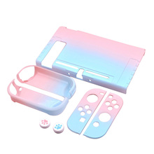 Detachable Coloful PC Shell Case For Nintendo Nintend Switch NS NX Cases Hard Protective Back Cover Shell Ultra Thin ultra thin glow in the dark patterned protective pc back case cover for ipod touch 5 multicolored