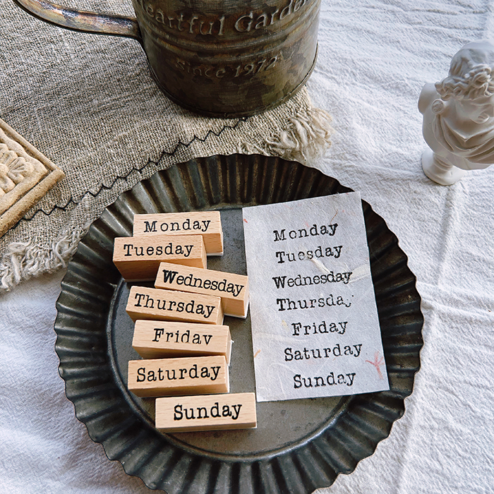 Cool Week My Days DIY Dates Wooden Stamp 7PCS/LOT 8.5*5.5cm DIY Scrapbooking Stickers Journal Planner Supplies Free Shipping