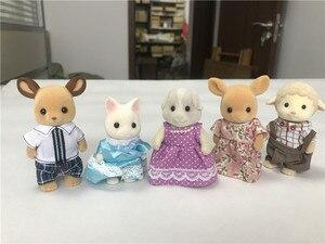 Image 5 - Geniune Sylvanian משפחות 10pcs פרוותי פעולה דמויות סט כלבים/Squrriels/דוב/עכבר/כבשים אקראי חדש לא חבילה