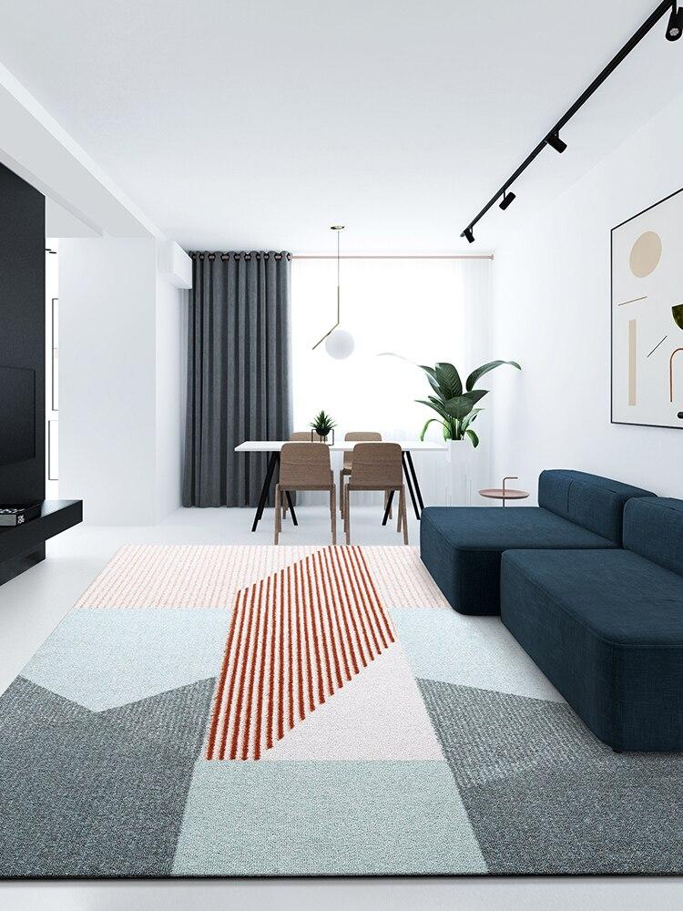 Tapis chambre salon ins net rouge chambre avec lit canapé tapis table basse nordique lit simple