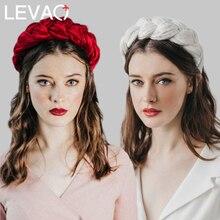 Levao 2019 New Women Warm Winter Wide Braided Hairband Velvet Headbands Flannel Hair Hoop Womens Accessories