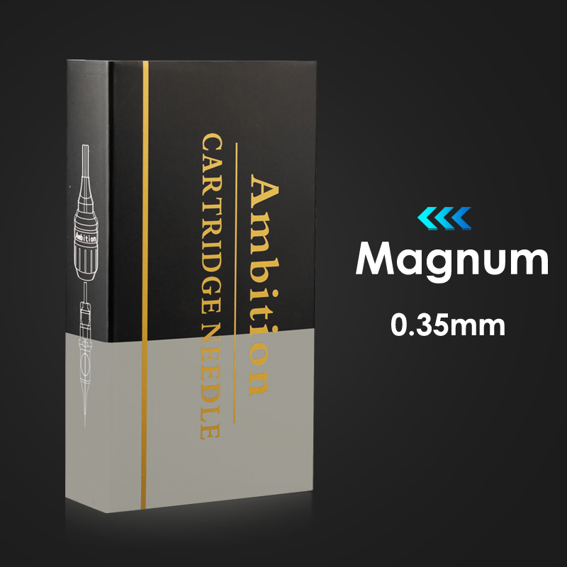 Ambition Tattoo Cartridge Needles Magnum Bugpin 0.35mm M-Taper Stable Premium Fine Needles For Tattoo Supply