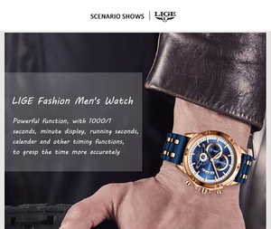 Image 3 - Relogio Masculino 2020 LIGE Fashion Mens Watches Top Brand Luxury Unique silicone Waterproof Wrist Watch Men Sport Quartz Clock