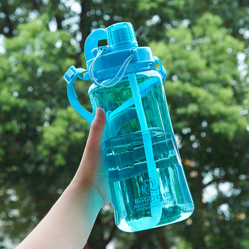 1.5L/2.0L Large Capacity With Straw Water Bottle Camping Picnic Bicycle Gym Fitness Sports Shaker Drinking Bottle WaterBottle|Water Bottles| - AliExpress