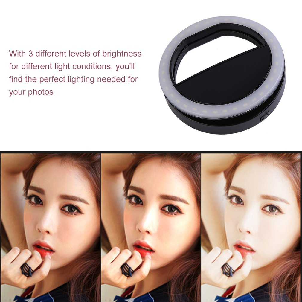 cheapest 26cm USB RGBW 16 colors Dimmable LED Ring Light Youtube Vlogging Photography Video Lights Selfie  Phone Clamp   Remote Control