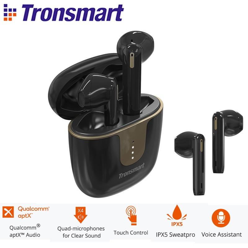 Tronsmart оникс Ace наушники-вкладыши TWS Bluetooth 5,0 наушники Беспроводной наушники Шум отмены с 4-мя микрофонами, 24 часов проигрывания