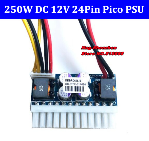 DC 12V 250W 24Pin Pico ATX Switch Pcio PSU Car Auto Mini ITX High Power Supply Module ITX Z1