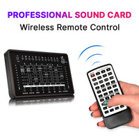 Professional Audio Interface Sound Card Studio Audio Microphone External Sound Card With Remote Control For Live Broadcast PC