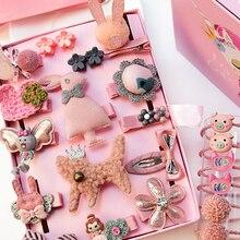 Hair-Clips Headwear Barrettes Flower Baby Cartoon Cute Children Bow 24pcs/Set No-Box