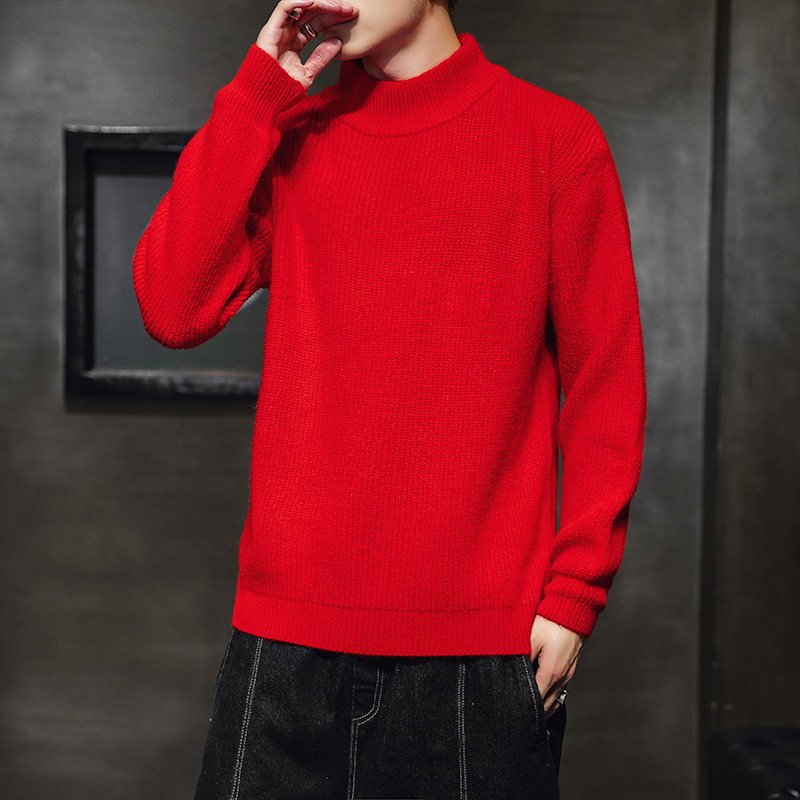 2019Autumn New Mens Hong Kong Version Sweater Male Lazy Style Loose Fashion Casual Clothes High Quality Warm Sweater Nine Colors