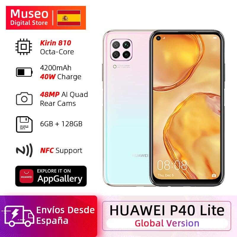 Global Version Huawei P40 Lite Cellphone 6GB 128GB 48MP Cameras AI 16MP Front Camera 6.4 ''Screen FHD Kirin 810 EMUI 10