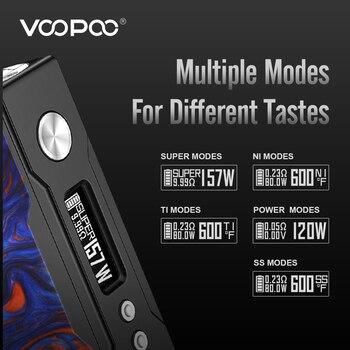 Slepen Vape Mod 157W Doos Mods Vaper Elektronische Sigaret E-Sigaret Verstuiver Vape Mod Doos Geen Dual 18650 batterij 510 Draad