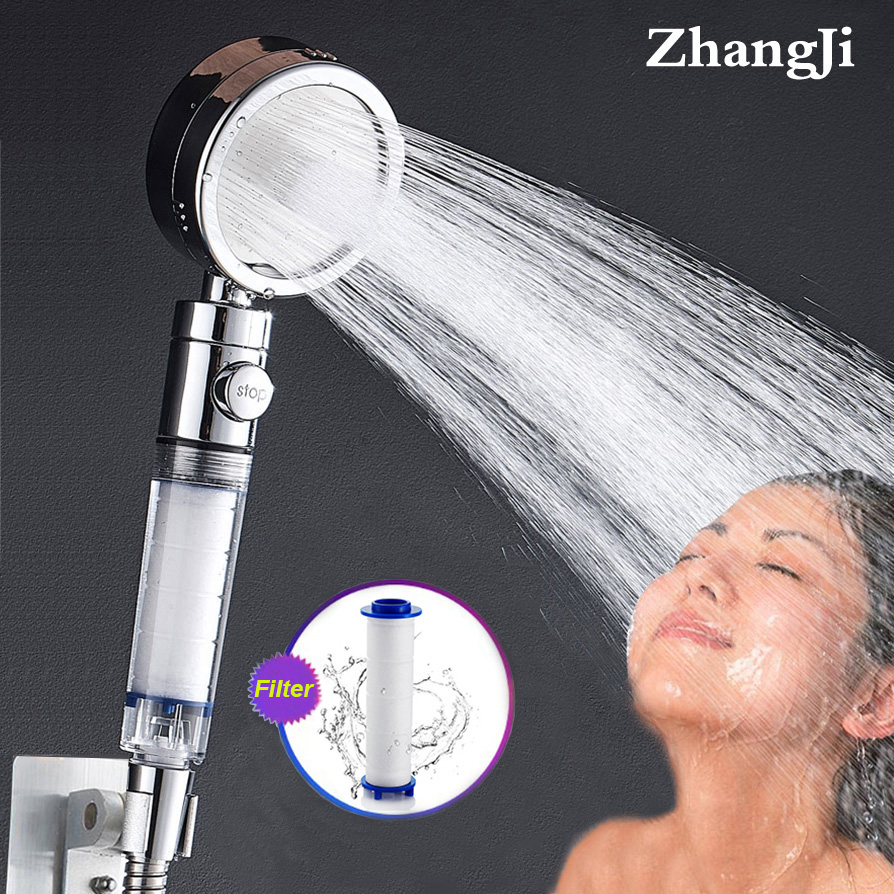 ZhangJi High Pressure Water Purified 3 Mode Shower Head Replaceable PP Cotton Filter Element Skin Care Sprinkler Nozzle
