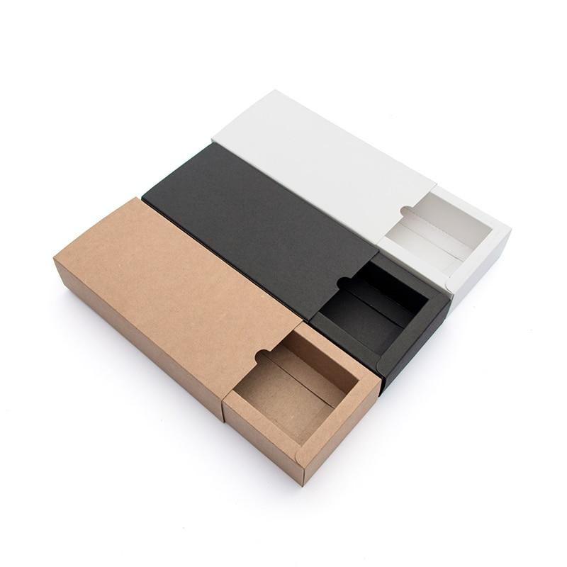 10pcs Black Cardboard Box White Cardboard Box Beautiful Gift Drawer Box