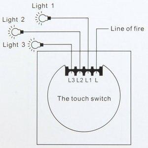 Image 5 - Interruptor de toque de parede padrão eu, interruptor de parede, painel de vidro cristal, interruptor de sensor 1 gang ac220v