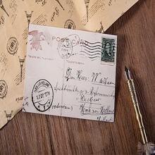 5packs/lot vintage postcard greeting gift envelope stationery