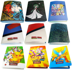 Image 1 - Álbum con soporte para tarjetas de pokemon, nuevos estilos, 80/240 uds, juguetes para regalo, tarjetas marcadores de libros, álbum