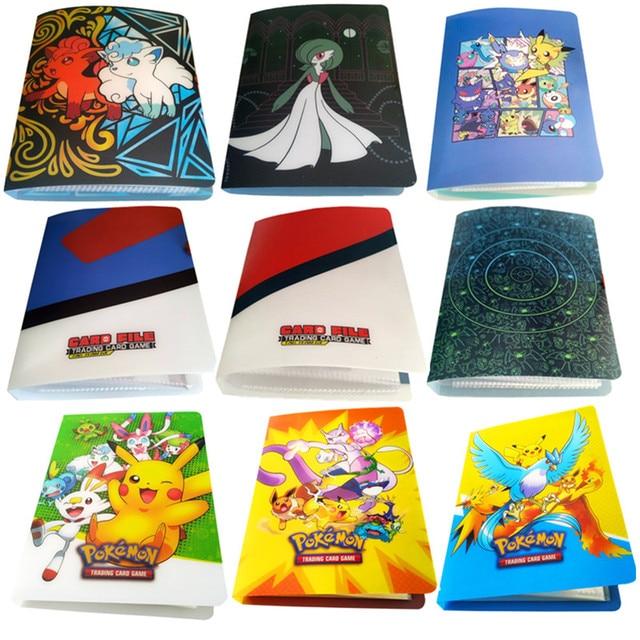 Álbum con soporte para tarjetas de pokemon, nuevos estilos, 80/240 uds, juguetes para regalo, tarjetas marcadores de libros, álbum