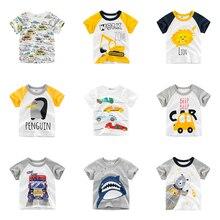 Summer Children Clothing Boys T Shirt Cotton Cartoon Print Short Sleeve T-shirt Kid Boy Casual Cute 1-10 Years T-Shirt