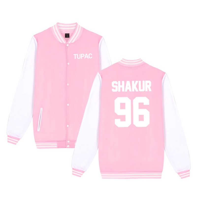 Men Women Kids Tupac Jacket New Boys Girls Long Sleeve Hipster Tupac Baseball Jerseys Tops Coat Printing Sportwear Cool Jacket