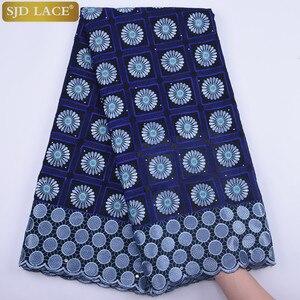 Image 5 - 2019 новейшая африканская кружевная ткань, швейцарская вуаль с камнями, швейцарская хлопковая кружевная ткань высокого качества, швейцарская кружевная ткань для свадьбы A1682