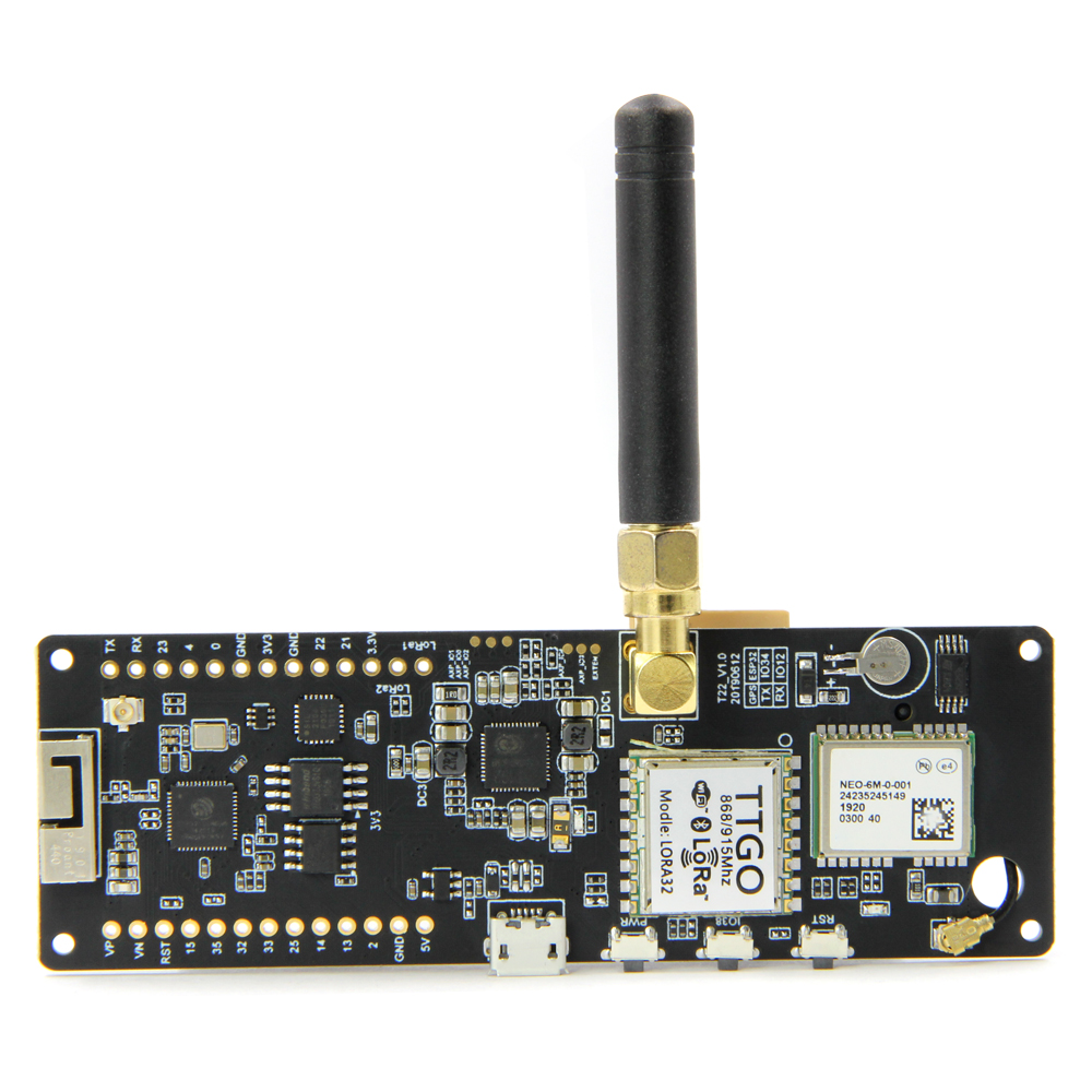 WiFi Wireless Bluetooth Module ESP32 GPS NEO-6M SMA LORA 32 18650 Battery Holder With SoftRF T-Beam ESP 32 433/868/915Mhz
