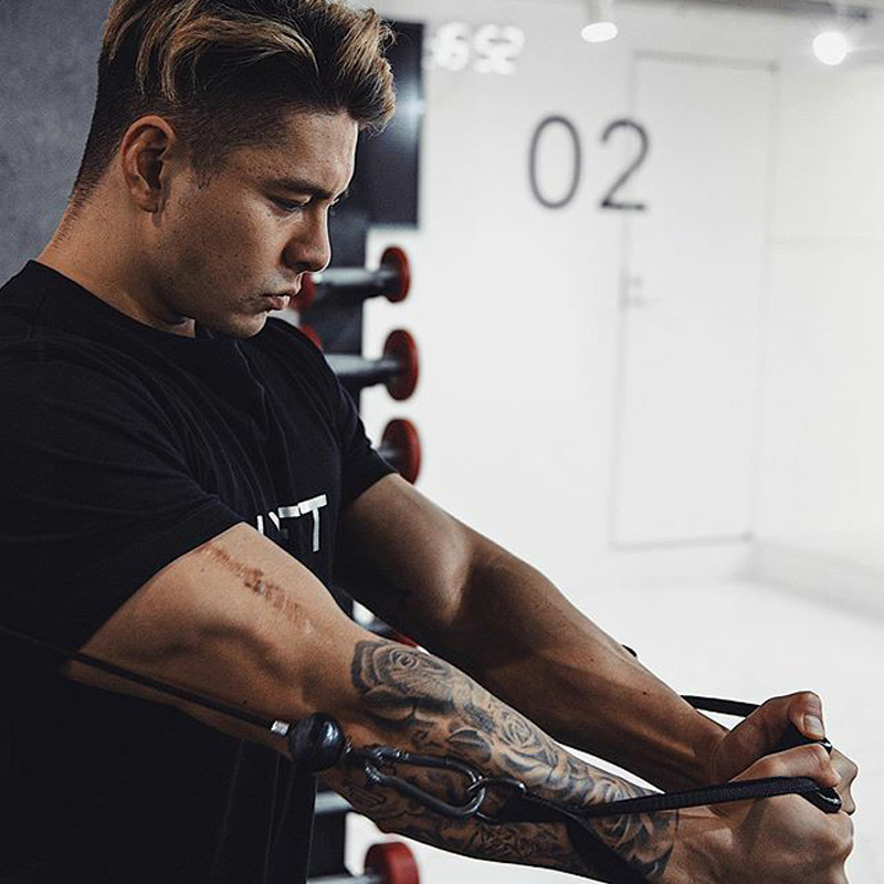 camisa ginásio fitness musculação treino masculino topos
