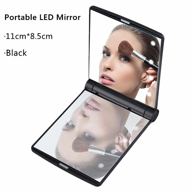 Portable Bathroom Makeup Shaving Mirror with LED Light Vanity Mirror