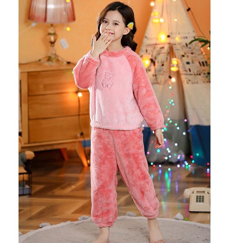 Crianças pijamas de inverno conjunto de roupas