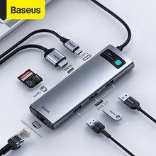 Baseus USB C HUB Typ C zu HDMI-kompatibel USB 3,0 Adapter 8 in 1 Typ C HUB Dock für MacBook Pro Air USB C Splitter