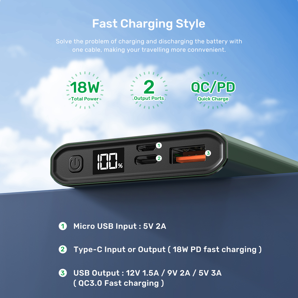 Mobile Phone Battery Charger Fast Charging USB