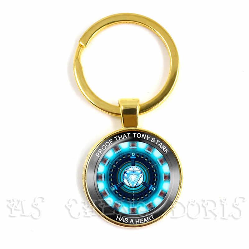 الزجاج كابوشون قلادة الأعجوبة الرجل الحديدي توني ستارك قوس مفاعل سلاسل المفاتيح المنتقمون 4 Endgame الكم عالم فيلم تذكارية