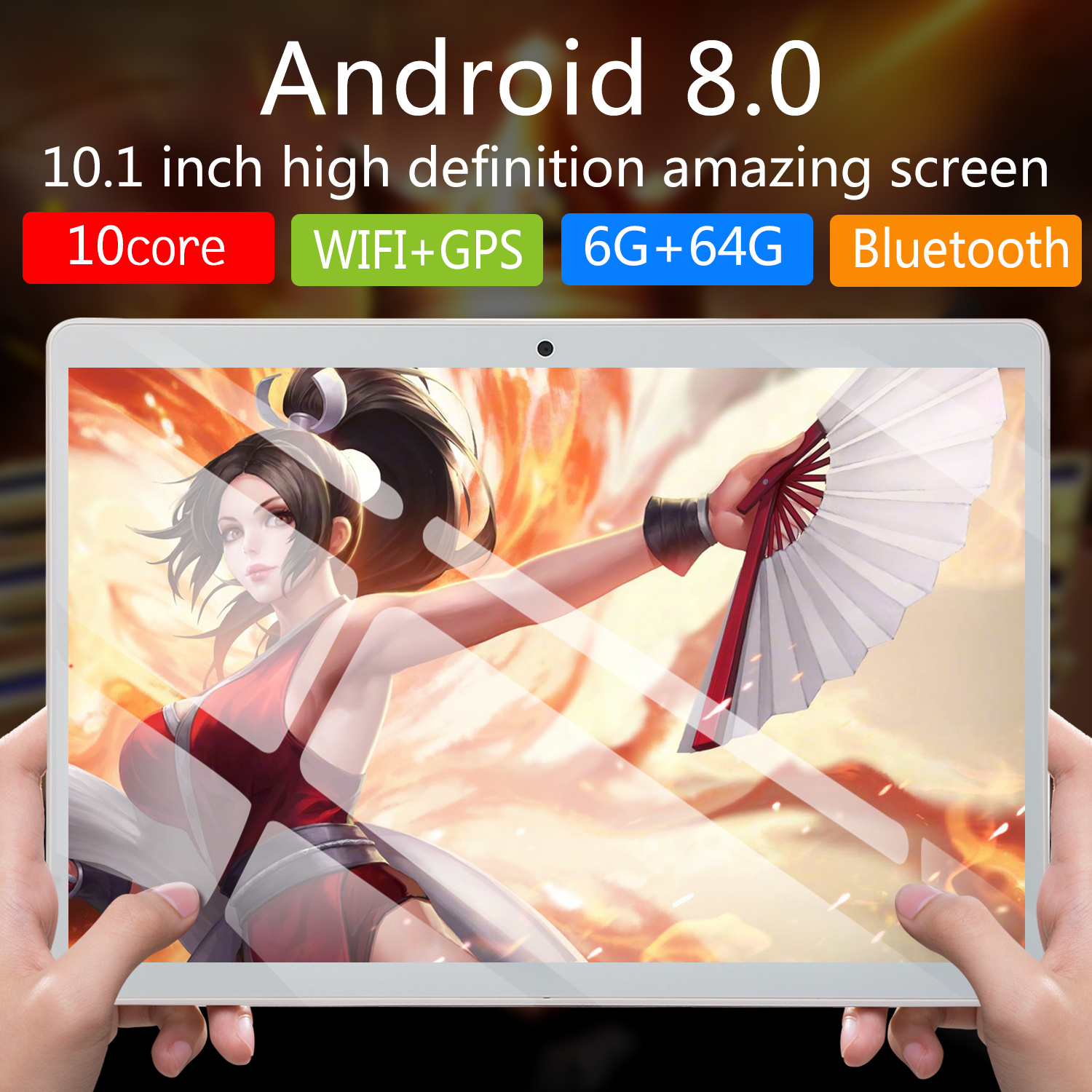 2020  New 10 Inch Android 8.0 Tablet Octa Core RAM 6GB ROM 16GB/64GB 4G Dual SIM Card Phone 4G Call Wifi Tablets PC