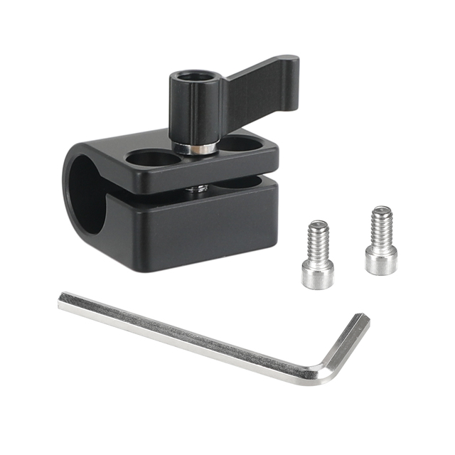 """Kayulin Solid Single 15mm Rod Clamp Adapter With 1/4"""" 20 Mounting Screws"""