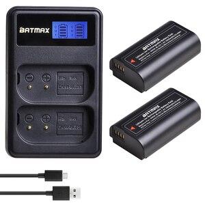 Image 1 - Аккумулятор DMW BLJ31 DMW BLJ31 2 шт. + двойное зарядное устройство USB с ЖК дисплеем для беззеркальных камер Panasonic LUMIX S1, S1R ,S1H, LUMIX S