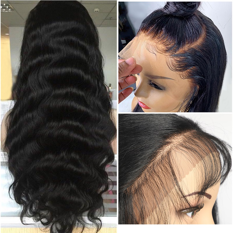 Brazilian Body Wave Wig Pre Plucked Lace Front Wig Remy Hair Wig 150% 13x4 Lace Frontal Human Hair Wig For Black Women