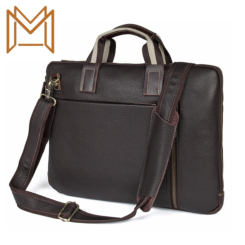 Man Business Affairs Package Litchi Leather Computer Package Briefcase Single Shoulder Messenger