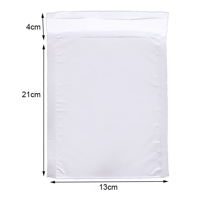Bubble Envelope (13*21cm + 4cm) 10 Pieces White Envelope Bubble Bag Foam Collision Postage Delivery Bag Packaging Supplies