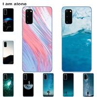 Funda de teléfono I am alone para Huawei Honor V9 Play View, 10, 20, 30, 30 Pro, V30 Pro, Color a la moda, dibujo animado