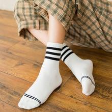Womens Socks 2018 Stripe Cotton Casual Girl Student Korean Japanese Style Cute Harajuku Socks Women High Quality Fashion Socks women socks new japanese rainbow socks korean color striped female cotton socks cute girl student socks