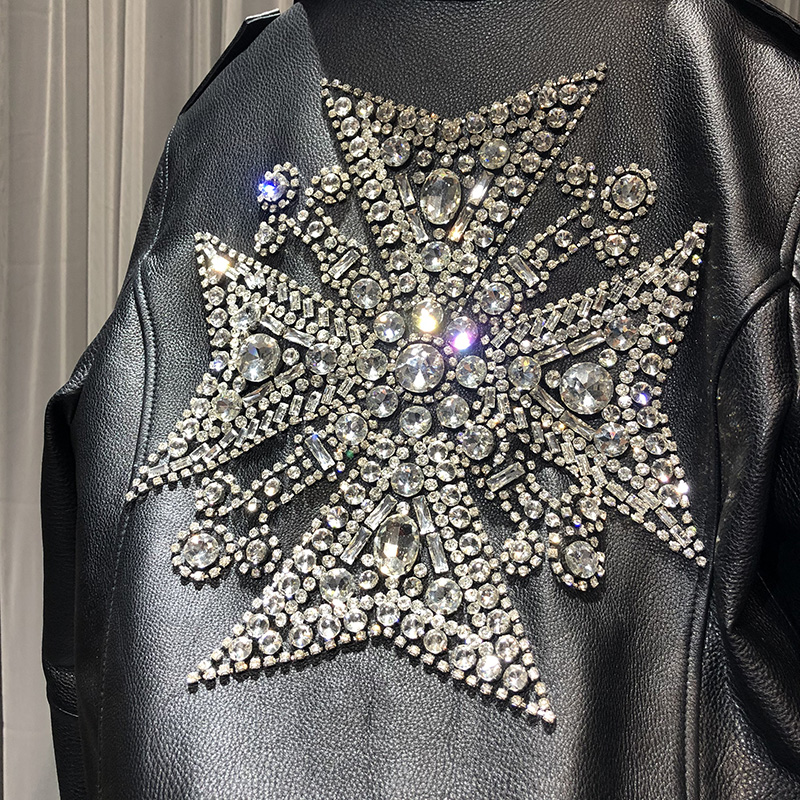 Woman Coats 100% Natural Leather Sheepskin 2019 Fashion Real Sheepskin  Motorcycle Jackets Rivet Genuine Leather  Ladies Jack 5