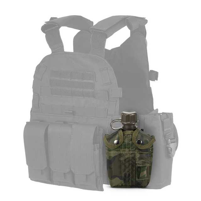 1L Outdoor Military Canteen Bottle Camping Hiking Backpacking Survival Water Bottle Kettle with Cover 6